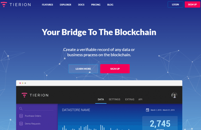 Tierion Blockchain-Based Solution