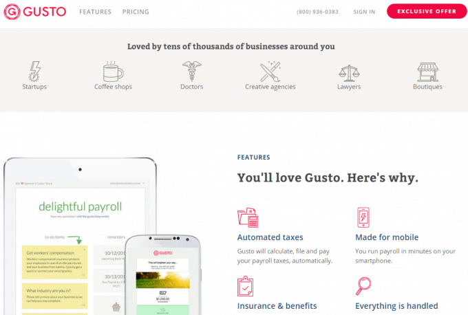 Gusto Payroll Solution