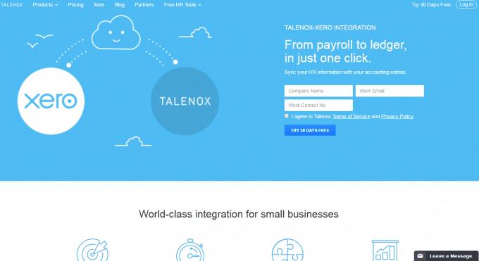 Talenox Payroll Solution with Xero Integration