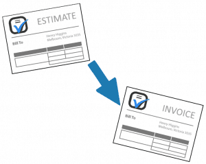 Turning Estimates Into Invoices