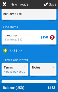Invoicing in FreshBooks Application