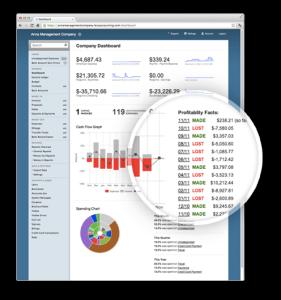 Screenshot of Less Accounting