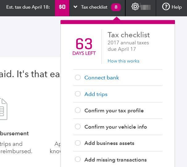 The Built-In Tax Checklist in QuickBooks