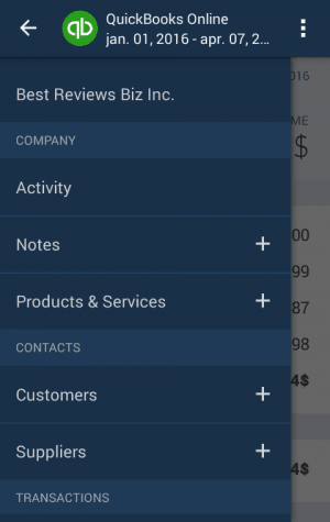 Features of the QuickBooks Online App
