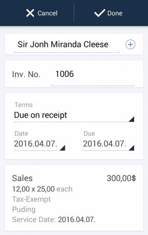 Invoicing in QuickBooks Online App