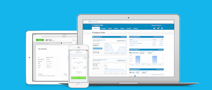 Xero on mobile, tablet devices and desktop