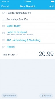Invoice management in the Xero Touch mobile app