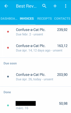 Invoicing in Xero Touch